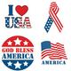 Patriotic Stickers - Set Of 144