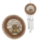 Pet Memorial Stone & Wind Chime Set
