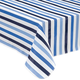 Blue Stripe Vinyl Table Cover by Home Style Kitchen