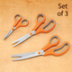 Cushion Grip Stainless Steel Scissors Set of 3