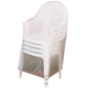 Vinyl Outdoor Chair Cover, White