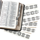 Large Print King James Bible Tabs - Set Of 71, White