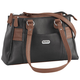 B.AmiciTM Nicole RFID Greenwich Multi Pocket Leather Satchel