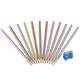 12 Metallic Colored Pencils with Sharpener