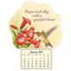 Mini Magnetic Calendar Grateful Hummingbird