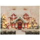 Cozy Cottage Lighted Canvas by Holiday PeakTM