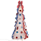 4' Patriotic Pull-Up Tree with LED Lights by Holiday PeakTM