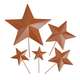 Rustic Barn Star Garden Stakes set of 5