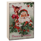Mini Vintage Christmas Signs   Santa