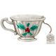 Christmas Teacup Pewter Pin