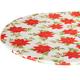Poinsettia Elasticized Vinyl Table Cover by Chef's Pride