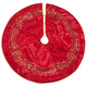 Red and Gold Glittered Tree Skirt by Holiday Peak™  48 Inch