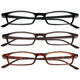 3 Pack Reading Glasses, Multicolor