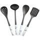 4 Piece Faux Marble Finish Utensil Set by Home Marketplace
