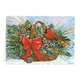 Cardinal Basket Christmas Card Set of 20