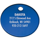 Personalized Circle-Shaped Pet Tag