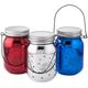 Red, White & Blue Fairy Light Firework Jars, Set of 3