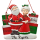 Personalized Santa and Mrs. Claus with Presents Ornament Personalized Family of 3