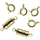 Magnetic Jewelry Clasps (Gold or Silver) Set of 2