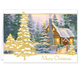 Glowing Cottage Personalized Christmas Cards Set Of 20