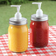 Mason Jar Condiment Dispensers, Set of 2