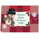 Calico Snowman Christmas Card Set of 20