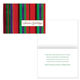 Holiday Ribbons Christmas Card Set of 20