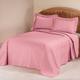 Solid Plisse Bedspread