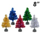 8 Fiber Optic Tinsel Tree