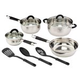 Cuisine Select 10-Pc. Stainless Steel Cookware Set