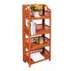 Folding Wicker 4-Tier Shelves XL