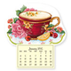 Teacup & Roses Mini Magnetic Calendar