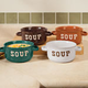 Stoneware Soup Bowls With Handles - Set Of 4