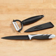 3-Pc. Knife With Sheath and Peeler Set