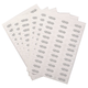 Glossy White Box Labels Set of 200