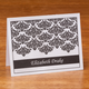 Personalized Note Cards With Damask Design