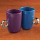 Friendship Mug With Ring Handle, Set Of 2