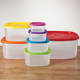Multi-Colored Storage Containers - Set of 7