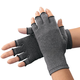 Light Compression Gloves With Grippers - 1 Pair, Gray