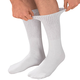 Cotton Diabetic Socks, One Size, White