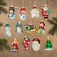 Christmas Glass Ornaments S/12