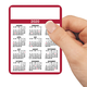 Personalized Self Stick Calendars Set/100 Burgundy