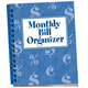 Monthly Bill Organizer, Blue