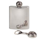 Stainless Steel Golf Flask And Bottle Opener