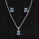 Blue Topaz Earring & Necklace Set
