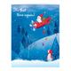 Santa's Flight Christmas Card - Set Of 20