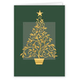 Gold Embossed Tree Christmas Card - Set Of 20
