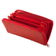 Red Faux Ostrich Clutch Wallet