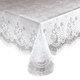 Elegant Floral Vinyl Lace Table Cover