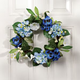 Blue Silk Floral Wreath